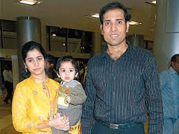 Laxman With Wife