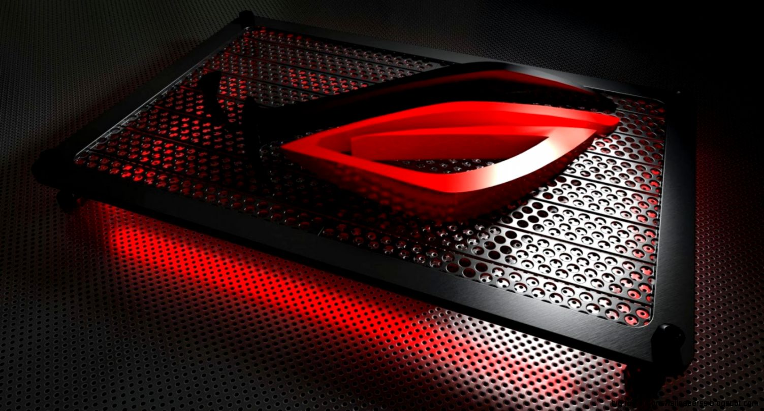 Red Asus Wallpaper: Asus Red Rog Logo Hd Wallpaper