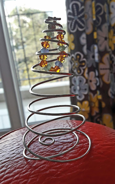 Tabletop Copper Xmas Tree