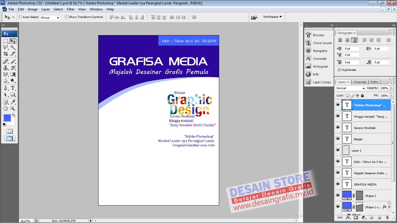 Tutorial Photoshop Cara Cepat Membuat Desain Cover Majalah