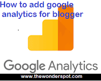 How to add google analytics into blogger