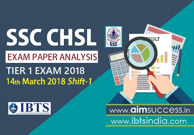 SSC CHSL Tier-I Exam Analysis 14th March 2018: Shift - 1