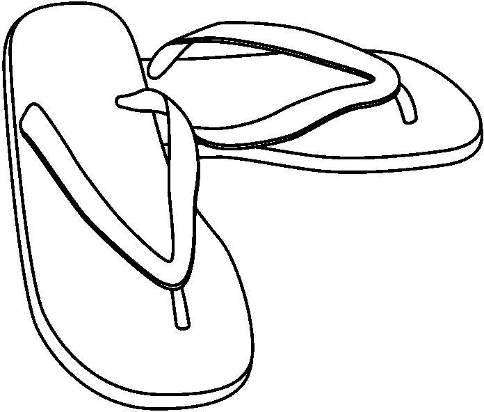 Sandalias En Dibujo Imagui