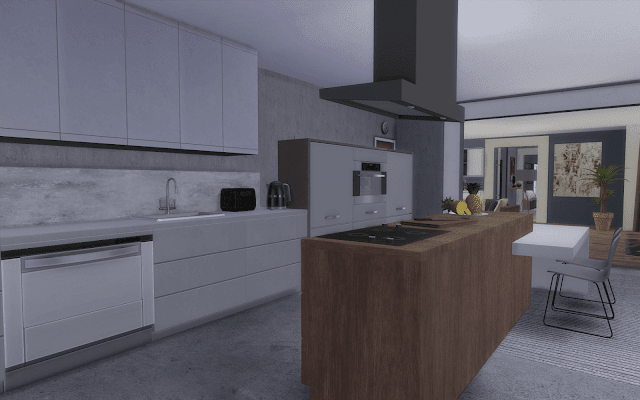 cuisine luxe Sims 4