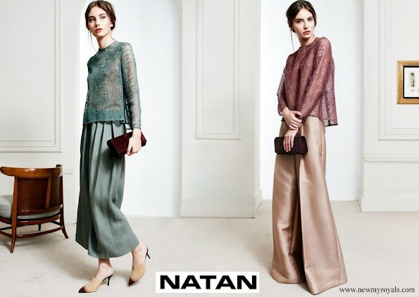 Queen Maxima Natan top and trousers Spring Summer 2017 collection