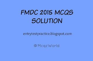 FMDC Past Paper 2015 MCQs Solution