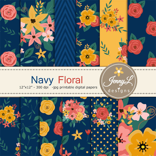 https://www.etsy.com/listing/385790092/50-off-navy-blue-floral-digital-paper