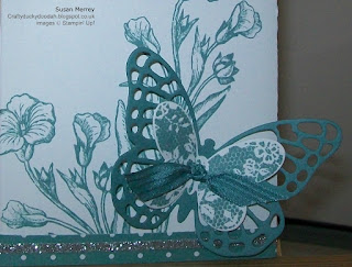 Stampin' Up! Made by Susan Simpson (Merrey) Independent Stampin' Up! Demonstrator, Craftyduckydoodah, Butterfly Basics, Bold Butterfly Thinlets, Gorgeous Grunge, Tin of Cards, Mini Treat Bag Thinlets,