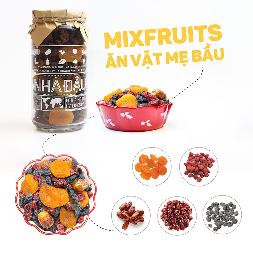 [A36] Mixfruits ăn vặt giúp thai nhi khoẻ mạnh