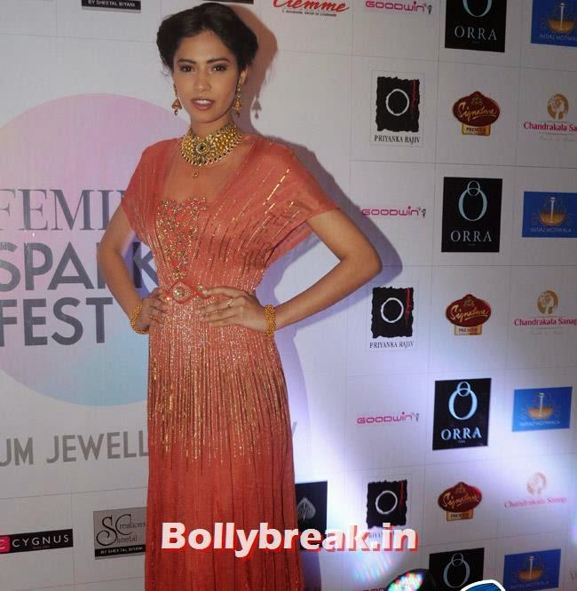 Gurleen Grewal, Yuvika Choudhary at Femina Sparkle Fest 2014 Fashion Show