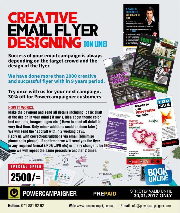 Creative Email Flyer Designing (On-Line)
