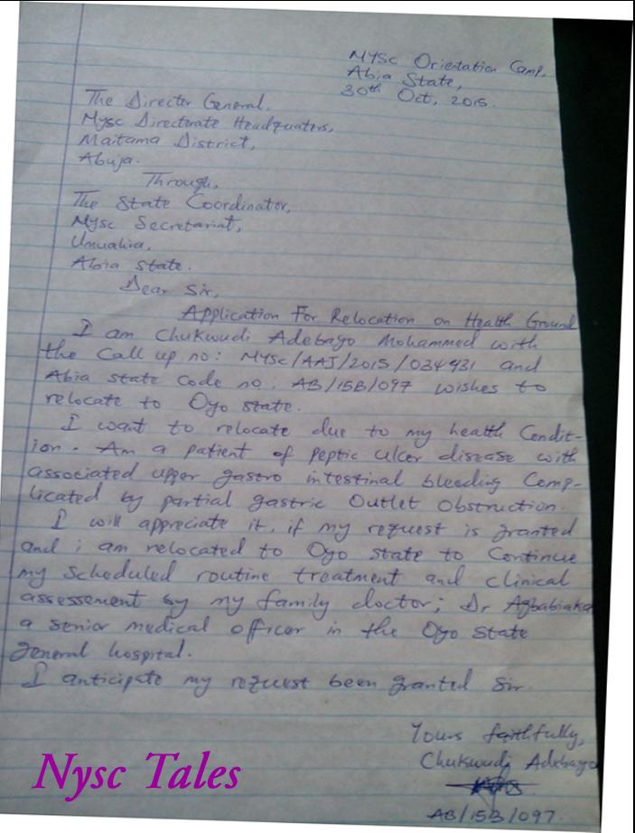 Band Application Letter