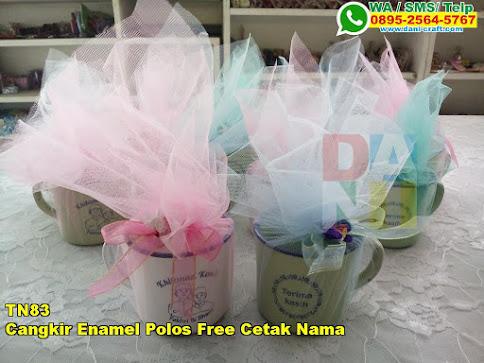 Harga Cangkir Enamel Polos Free Cetak Nama