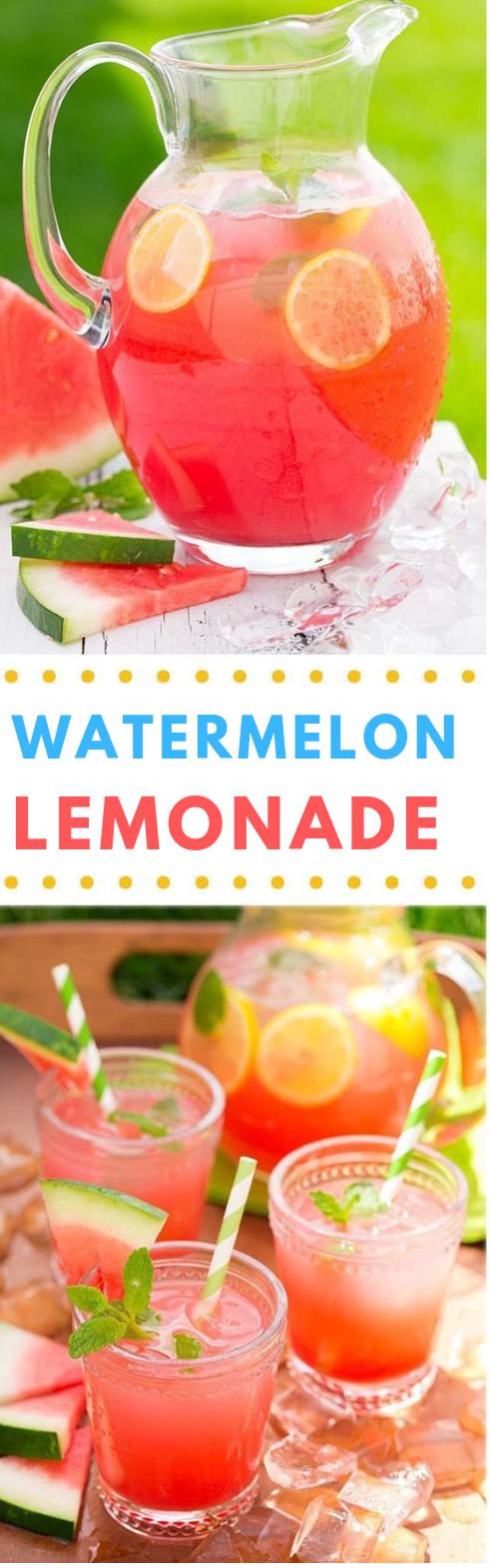 Watermelon Lemonade #lemonade #healthydrink