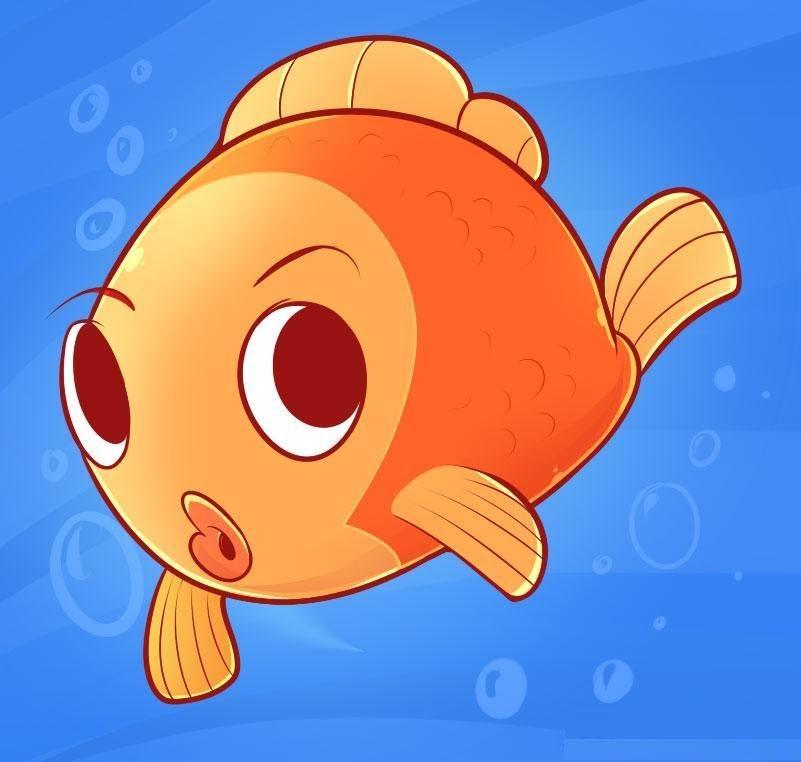 Картинки рыбок смешных мультяшных