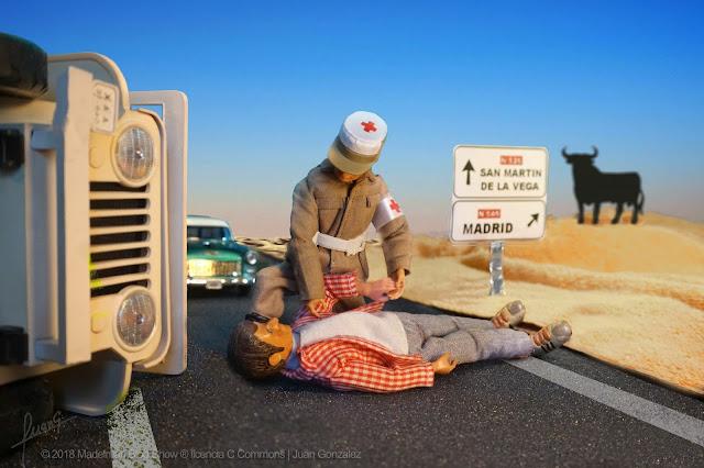 Madelman de la Cruz Roja siempre dispuesto para la acción