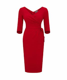 A red Bombshell dress is a real attention grabber