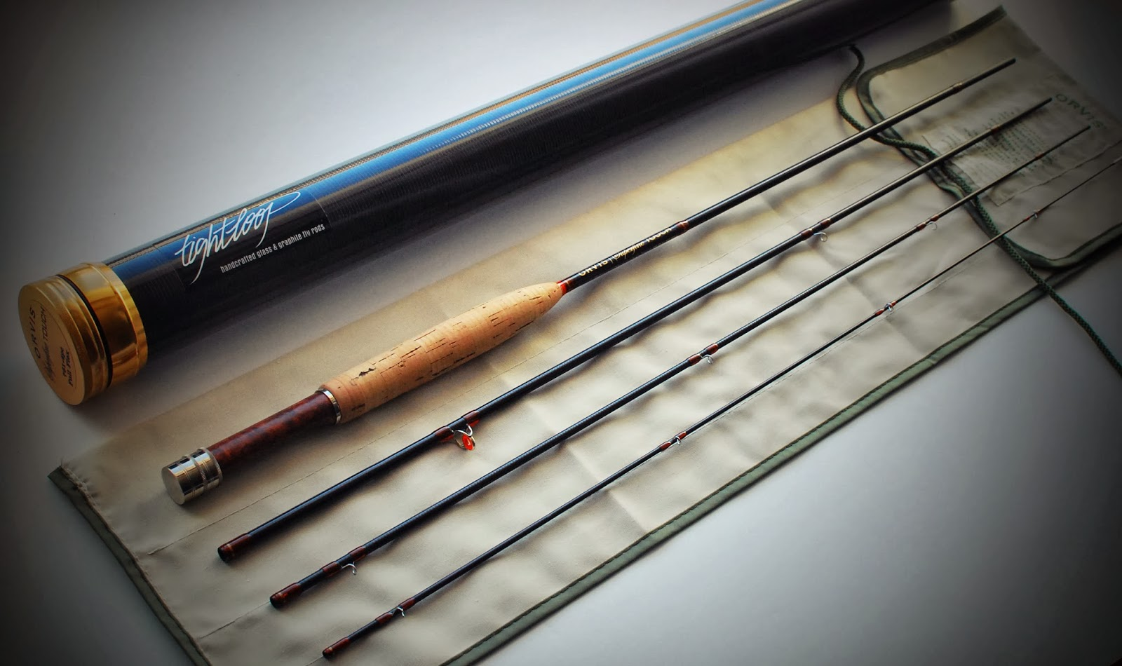 Handcrafted graphite and fiberglass fly rods: Orvis Superfine Touch