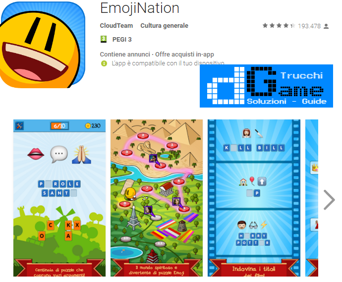 Soluzioni EmojiNation livello 1-2-3-4-5-6-7-8-9-10 | Trucchi e Walkthrough level