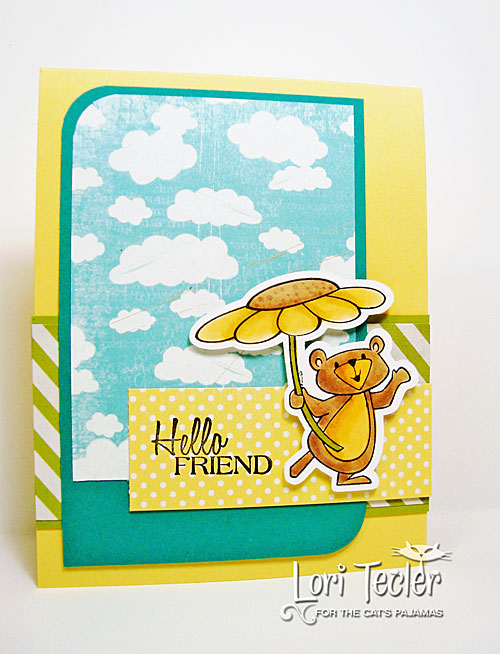 Hello Friend card-designed by Lori Tecler/Inking Aloud-stamps from The Cat's Pajamas