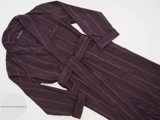 Mens Long Lightweight Jacquard Silk Purple Burgundy Robe Smoking Dressing Gown Gentlemen Loungewear.