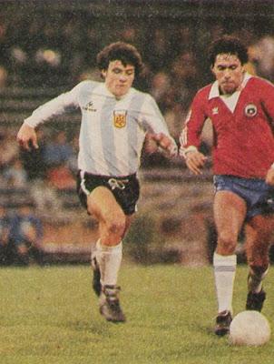 Argentina y Chile en partido amistoso, 23 de junio de 1983