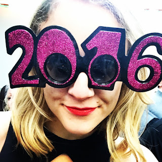 New year 2016 glasses