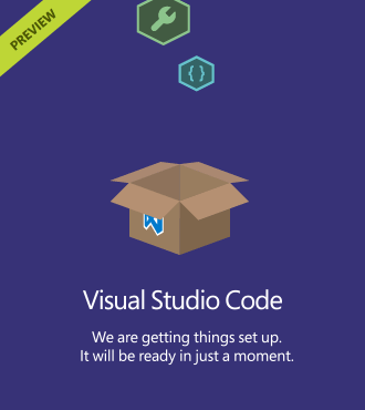 Visual Studio Code Splash Screen