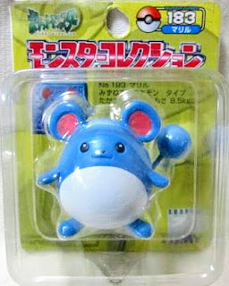 Marill figure Tomy Monster Collection yellow package series