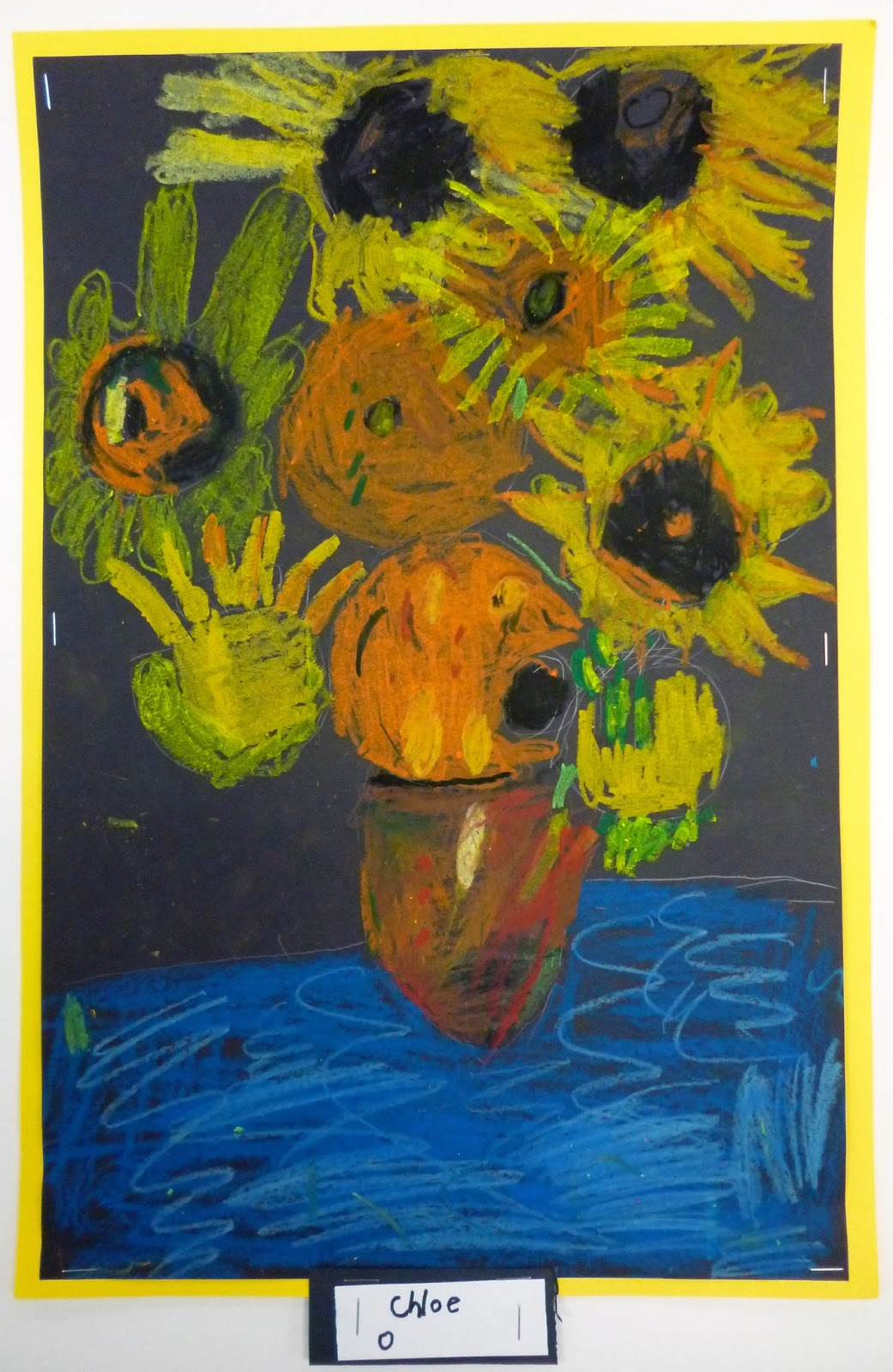 1st Grade Van Gogh Sunflowers… Lesson On Seeing Color
