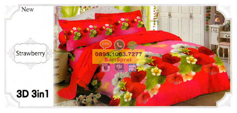 Sprei Lady Rose Strawberry