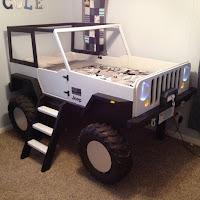 Increíbles camas que les encantarán a los pequeños jeep