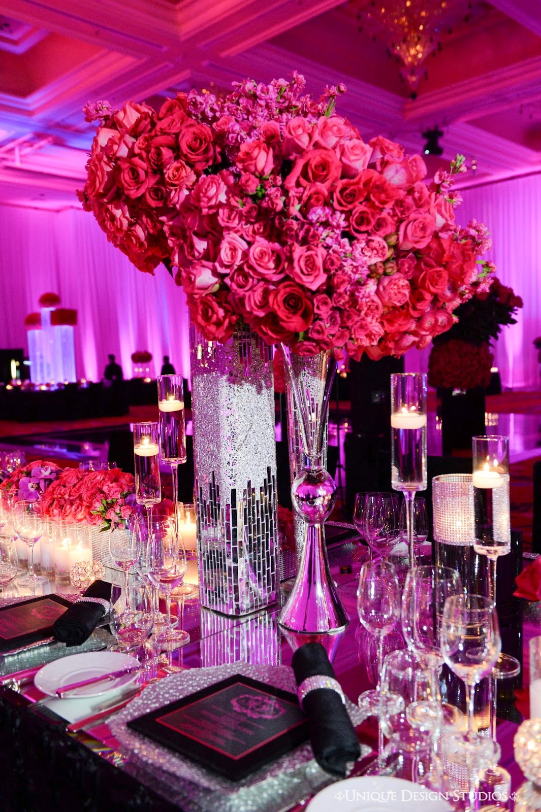 Tiffany Cook Events OMG Las Vegas Wedding Reception Designed by Platinum Weddings Designer