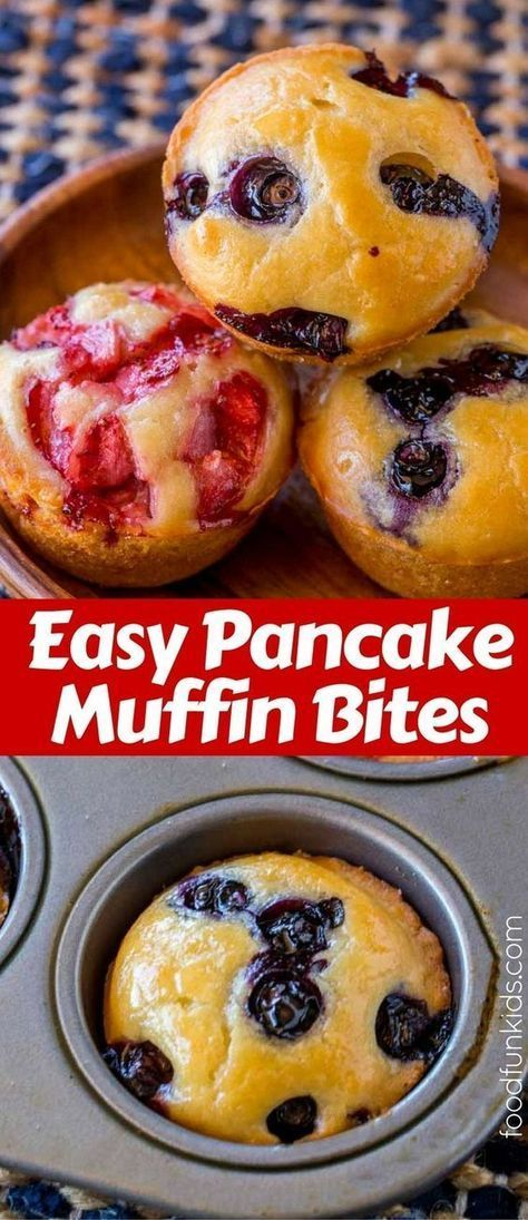 Easy #Pancake #Muffin #Bites