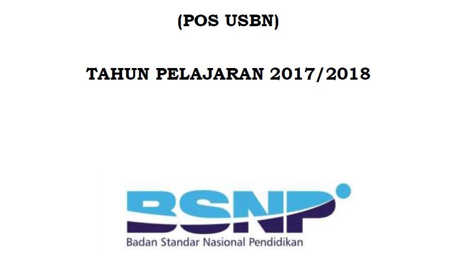 POS USBN Tahun Pelajaran 2017/2018