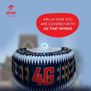 Airtel 4G LTE available in Abuja
