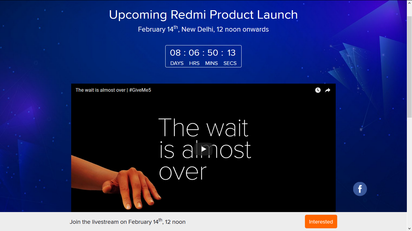 Redmi 5 launch date just got confirmed it will be available on Feb. 2018.