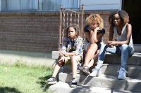 Ashleigh Murray, Rachel Crow and Lance Gray in Deidra and Laney Rob a Train (2)