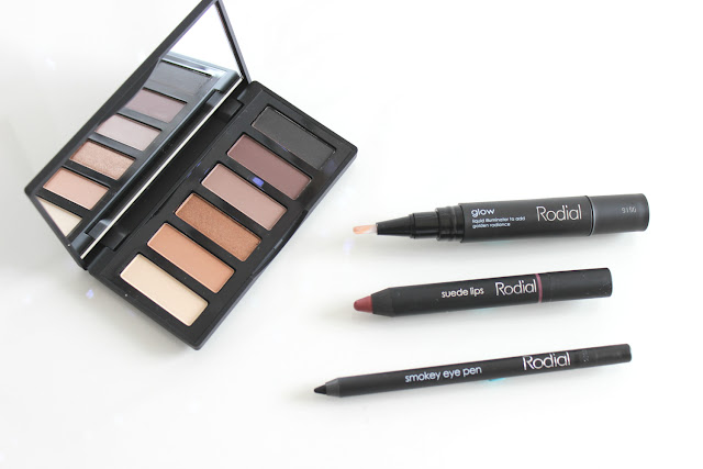 rodial, eyeshadow, rodial smokey eye sculpt eyeshadow, palette, rodial instaglam glow, rodial suede lips, big apple, rodial smokey eye pen, flatlay, makeup, review, recreation