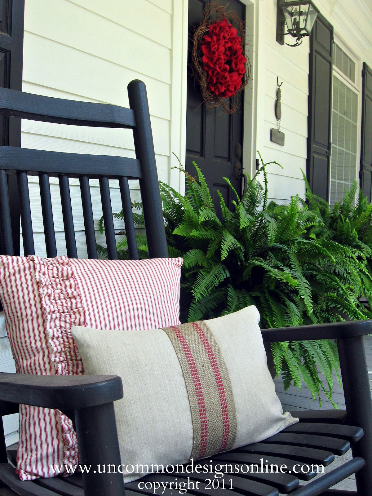 patriotic flag porch lanterns guest post from Uncommon