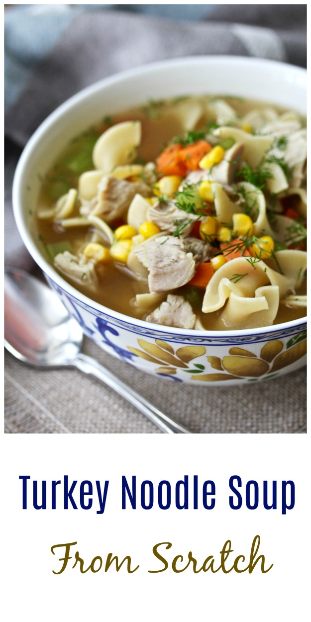 Turkey Noodle Soup from Scratch