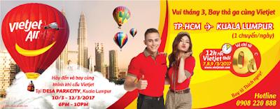 Tháng 3 bay đến Kuala Lumpur cùng Vietjet với giá 0 đồng