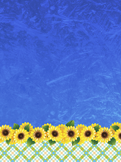 Daisies in Blue Free Printable Invitations, Labels or Cards.
