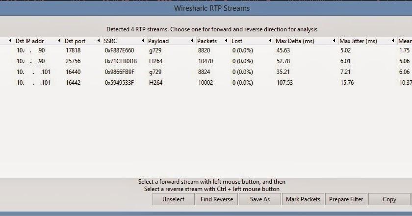 Ciscoshizzle: Wireshark RTP analysis, call quality analysis, why