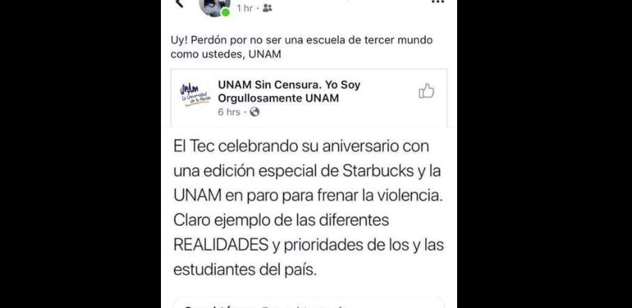 #LadyTec se burla de los estudiantes de la UNAM y recibe críticas en redes