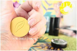 beleza purobio eyeshadow ombretti18 giallo indiano swatches