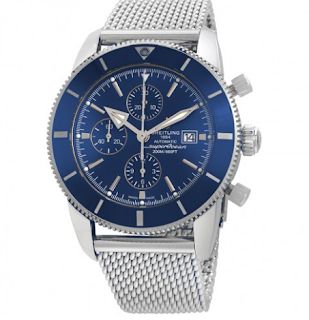 Superocean Heritage II Chronograph Automatic Chronometer Blue Dial Men's Watch