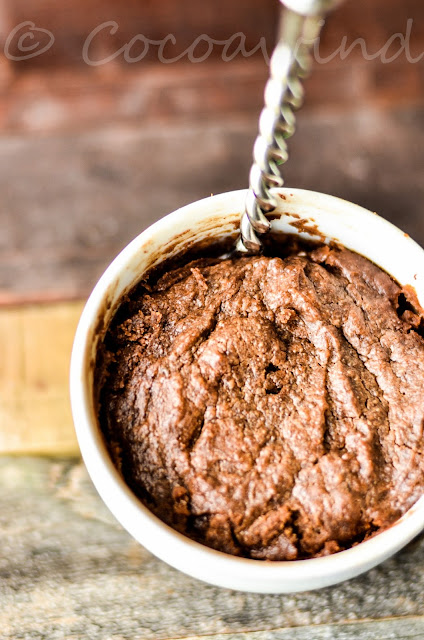 One minute Almond Butter Mug Cake in the microwave