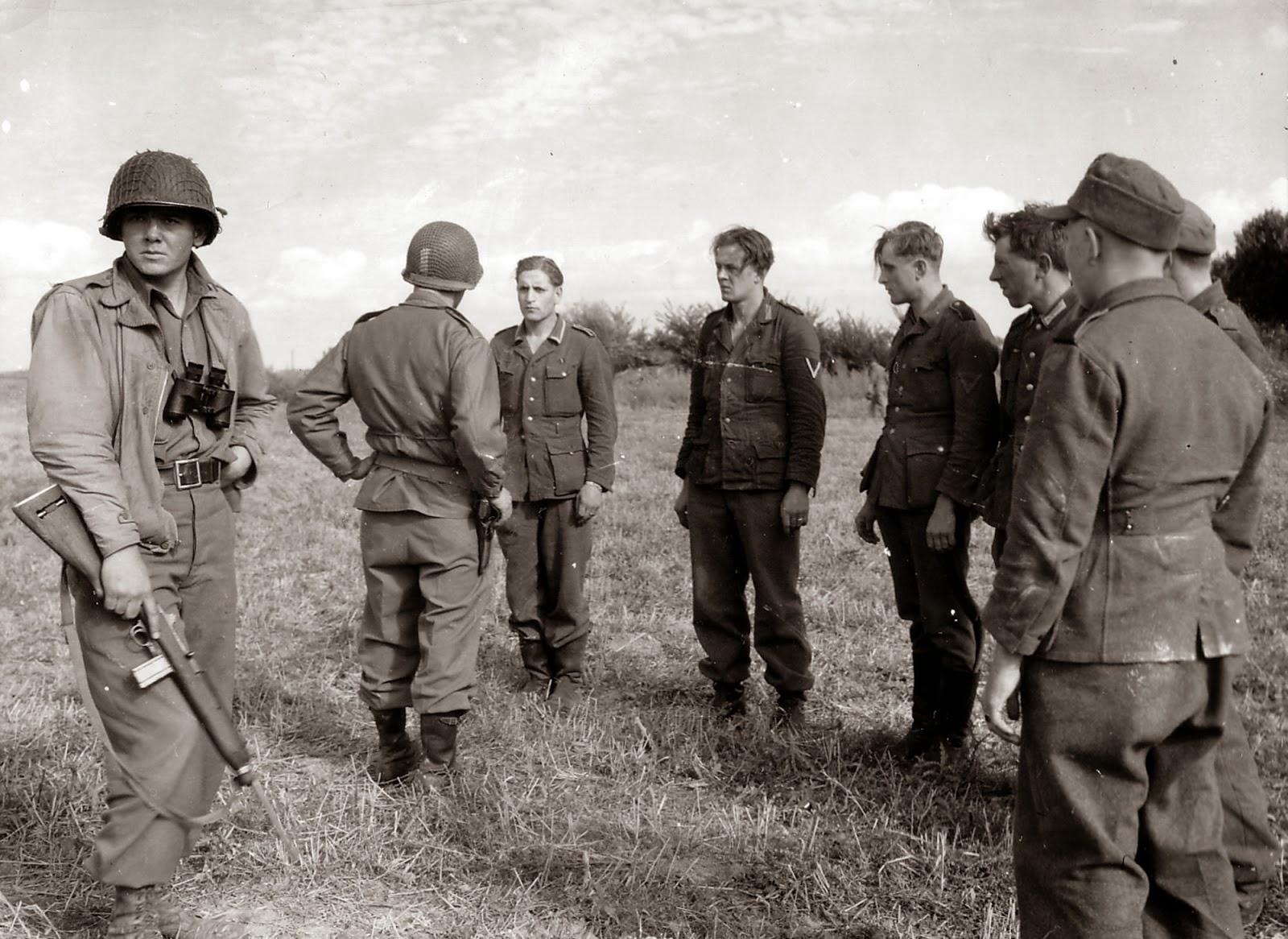 Soldados americanos y Wehrmacht