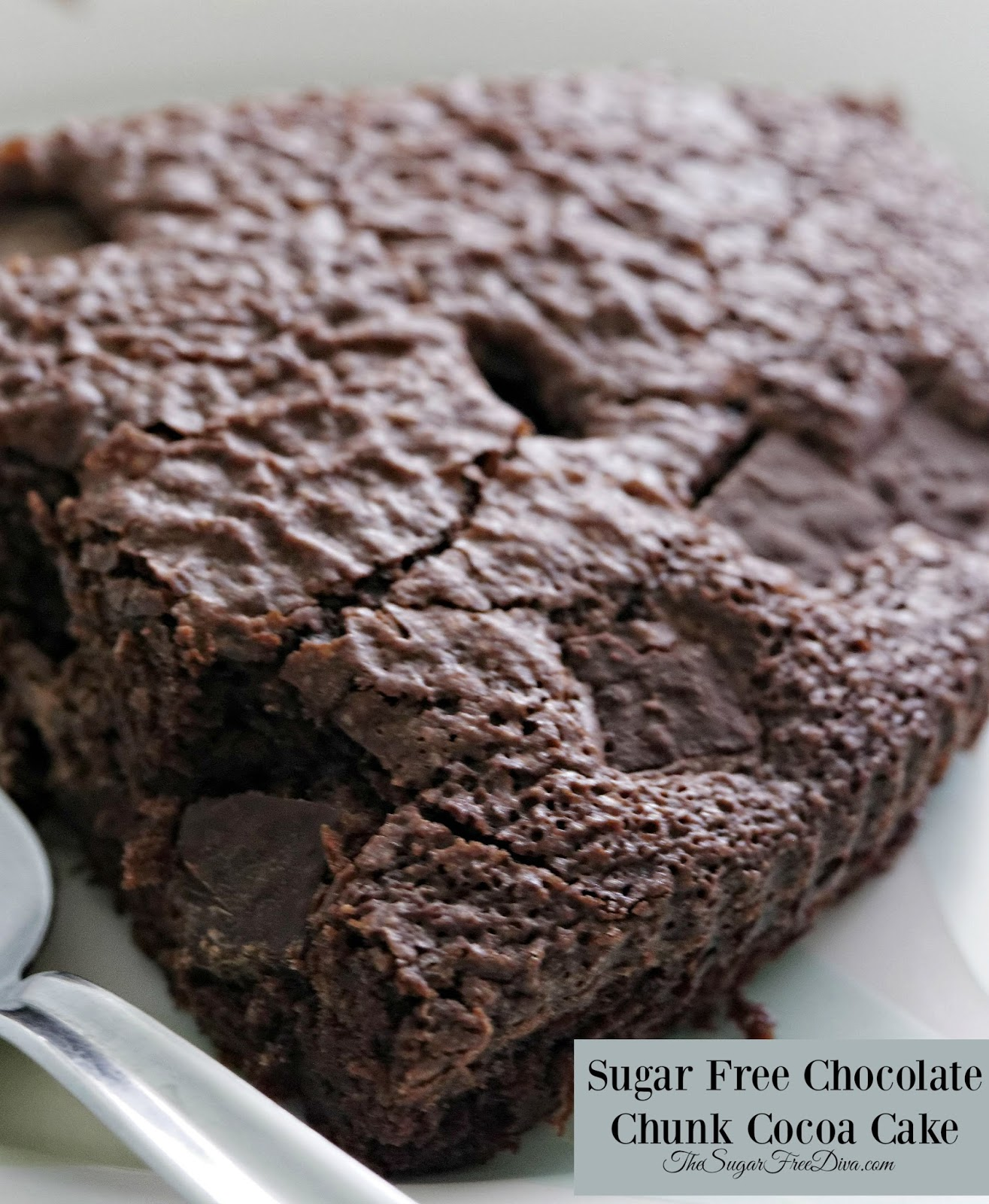 Sugar Free Chocolate Chunk Cocoa Cake - THE SUGAR FREE DIVA